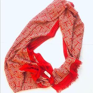 Tory Burch lightweight scarf classic print
